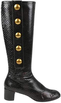 Marc Jacobs Black Water snake Boots