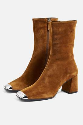 Topshop MAXWELL Suede Ankle Boots