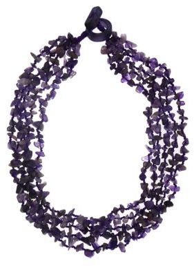 Lord & Taylor Dogstooth Amethyst Multi-Row Necklace