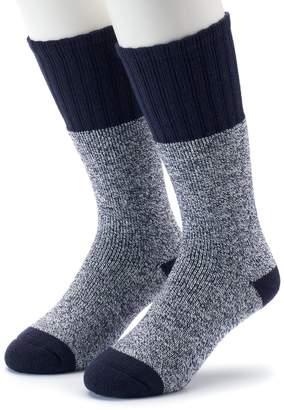 Croft & Barrow Men's 2-Pack Marled Extended Size Crew Socks