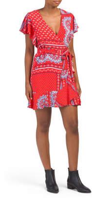 Juniors Australian Designed Mini Wrap Dress