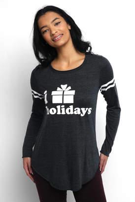 "Chaser Long Sleeve ""i present holidays"" Tee Shirt"