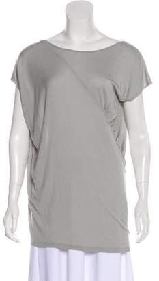 Under.ligne By Doo.ri Asymmetrical Short Sleeve T-Shirt