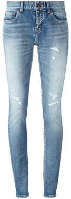 Saint Laurent mid-rise skinny fit jeans