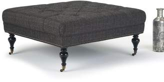 Marcus Collection Simpli Large Square Coffee Table Ottoman