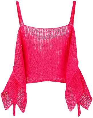 Eckhaus Latta draped sides knit top