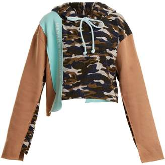 Natasha Zinko Camouflage-print cotton-blend hooded sweatshirt