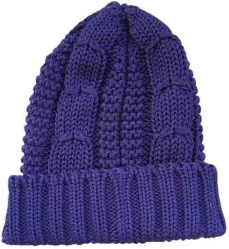 Prada Blue Wool Hats