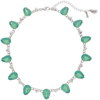 Vera Wang Simply Vera Green Simulated Crystal Statement Necklace