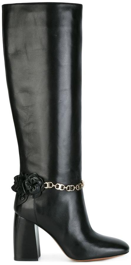 Tory Burch chain detailing boots