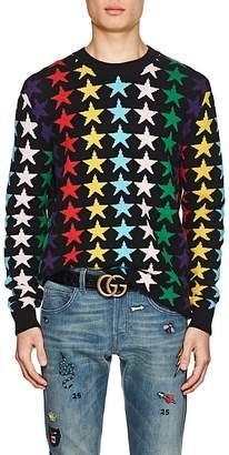 Gucci Men's Star-Knit Wool Sweater