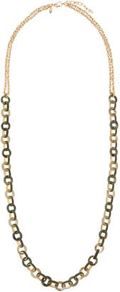 Emily and Ashley Greenbeads By Circle-Link Long Necklace, Green