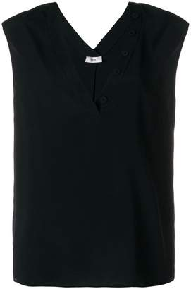 Mauro Grifoni buttoned v-neck tank top