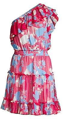 Shoshanna Women's Kiya One-Shoulder Floral Dress - Size 0
