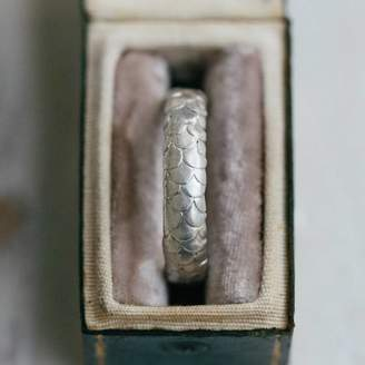Gents Alison Macleod Fish Scale Pattern Wedding Ring