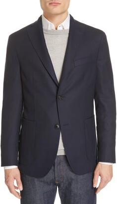 Boglioli Hopsack Slim Fit Wool Sport Coat