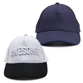 accsa Kids Boy Baseball Cap UPF Awesome Gray and Navy Sunhat Age 1-4Y