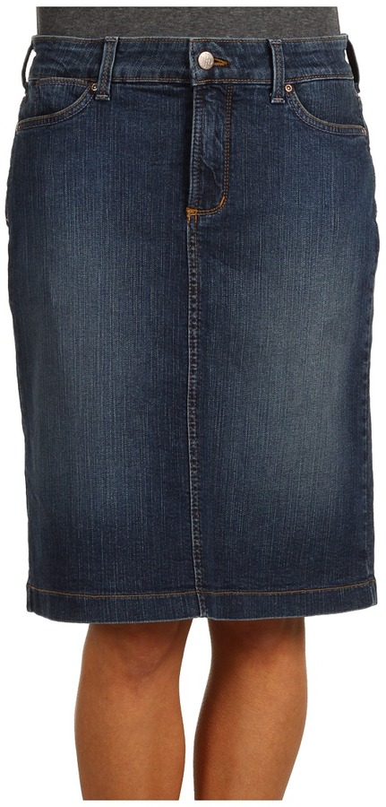 Not Your Daughter's Jeans Not Your Daughters Jeans - Emma Denim Pencil Skirt in Koberg Wash (Koberg Wash) - Apparel