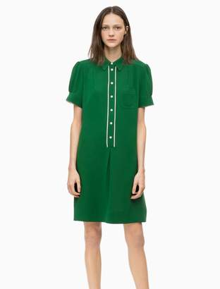 Calvin Klein twill short sleeve shirt dress