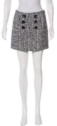 Milly Textured Mini Skirt