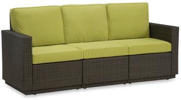 Bed Bath & Beyond Riviera Green Apple Three Seat Sofa
