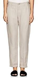 Pas De Calais Women's Herringbone-Weave Linen Pants - Beige, Tan