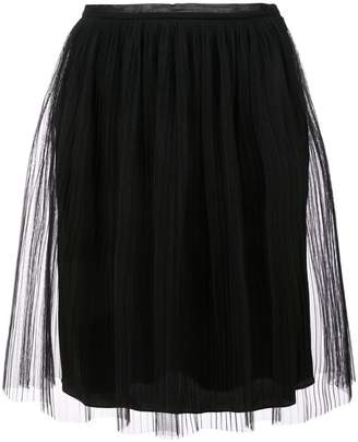 Maison Margiela pleated tulle mini skirt