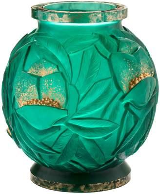 Daum Empreinte Gilded Vase