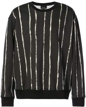3.1 Phillip Lim Painted-stripe sweatshirt