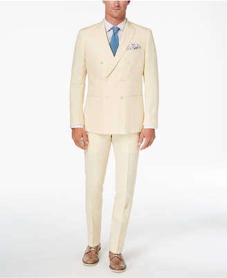 Closeout! Tallia Orange Men's Modern-Fit Light Yellow Delave Double-Breasted Suit