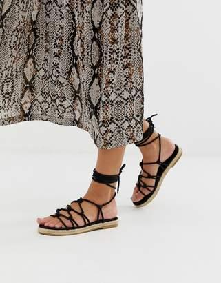 Asos Design DESIGN Jester knotted espadrille sandals