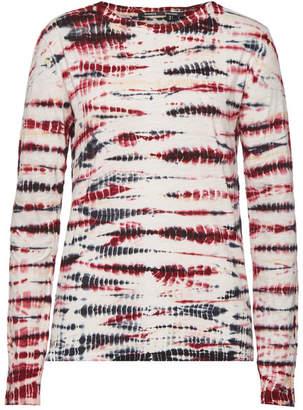 Proenza Schouler Cotton Tie Dye Long Sleeve T-Shirt