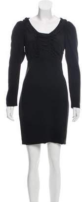 Miu Miu Long Sleeve Mini Dress