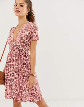 French Connection floral print wrap dress