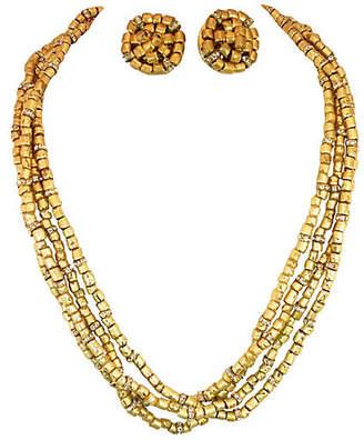 One Kings Lane Vintage 1950s Vogue Roman Glass Necklace Suite - Neil Zevnik