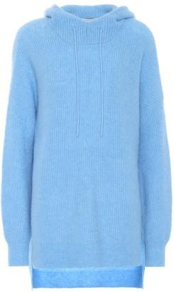 Ganni Hooded alpaca and wool-blend sweater