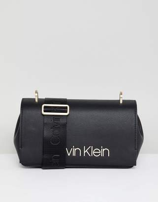 Calvin Klein Shoulder Bag with Wide Strap Detail