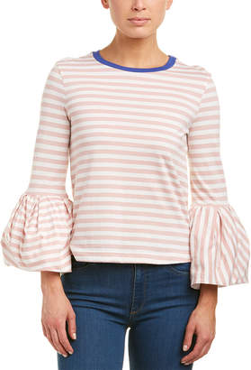 ENGLISH FACTORY Bell-Sleeve Top