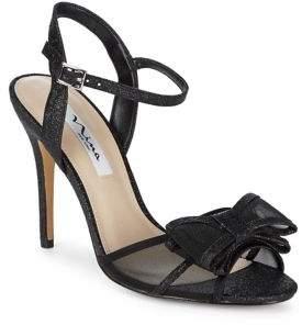 Nina Charm Bow Glitter Ankle-Strap Sandals