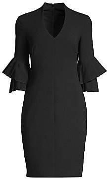 Black Halo Women's Aki Bell Sleeve Mini Sheath Dress