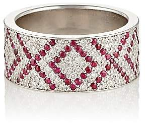 XOXO Ambre Victoria Women's White Diamond & Ruby Cigar Band