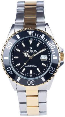 Croton N/A Womens Silver Tone Bracelet Watch-Cn207596ssmp