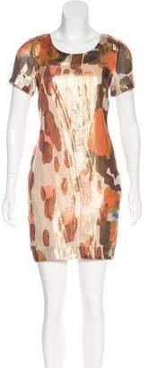 Chris Benz Silk Metallic Dress