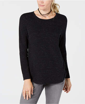 Style&Co. Style & Co Printed Long-Sleeve T-Shirt, Created for Macy's