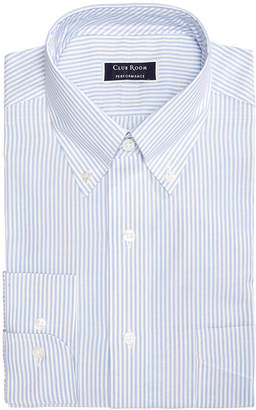 Club Room Men's Classic/Regular Fit Stretch Wrinkle-Resistant University Stripe Dress Shirt