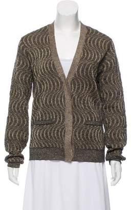 Dries Van Noten Patterned Long Sleeve Cardigan