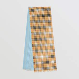 Burberry Vintage Check Colour Block Wool Silk Scarf