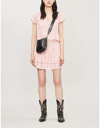 Paige Cristina striped rayon mini dress