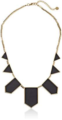 House Of Harlow 14k Yellow Gold-Plated and Leather Station Necklace, 18""