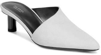 Via Spiga Women's Freya Point-Toe Cylinder-Heel Porcelain Leather Slide Mules - 100% Exclusive